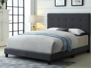 Button-pull Headboard with Frame - Queen