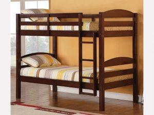 Wood Bunk Bed Espresso